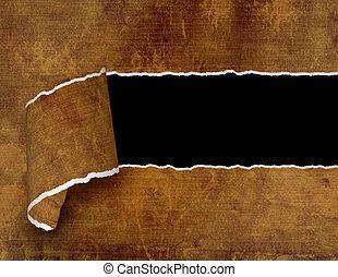 Grunge background - hole with the damaged edges