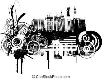 Grunge background. Illustration.