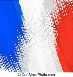Grunge background in colors of french flag