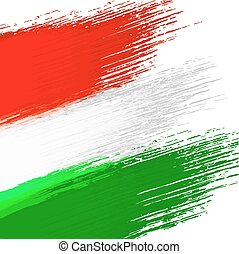 Grunge background in colors of hungarian flag