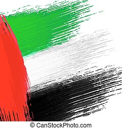 Grunge background in colors of United Arab Emirates flag