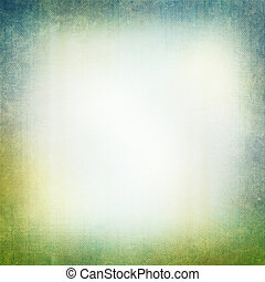 Grunge background in green and blue