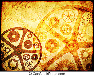 Grunge background in steampunk style
