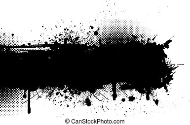 Grunge background - Ink splat grunge background