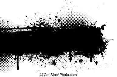 Grunge background - Ink splat grunge background