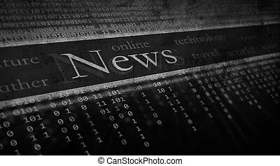 grunge background, News concept