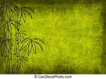 Grunge background of green color