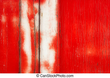 Grunge Background: Red Paint