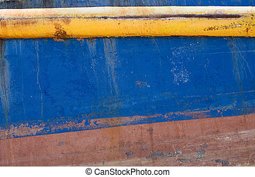 Grunge background of a rusted ship's hull.