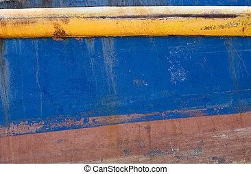 Grunge Background: Ship\\\'s Hull - Grunge background of a...