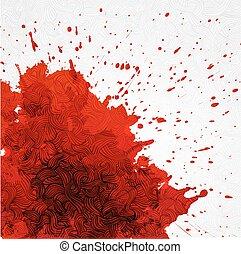 Grunge background with a big red splash