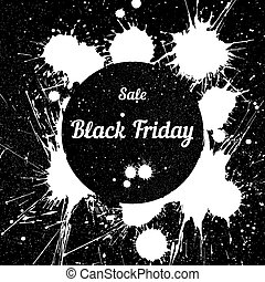 Grunge background with an inky dribble for Black Friday