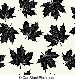 Grunge background with black leaves