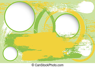 grunge background with blank circles