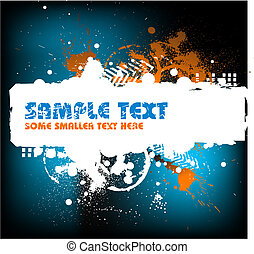 Grunge background with blots and place for your text (vector...