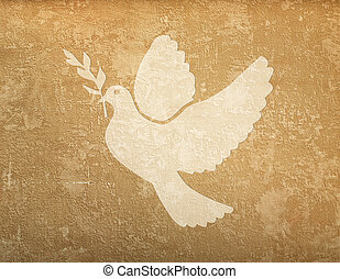 grunge background with dove shape