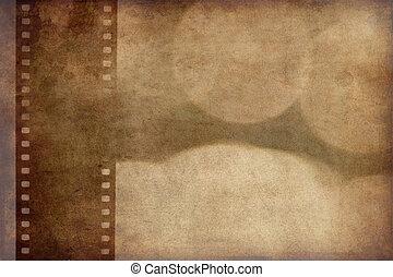 grunge background with film strip - the grunge background ...