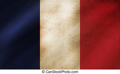 Grunge background with flag of France.