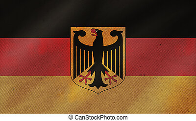 Grunge background with flag of Germany.