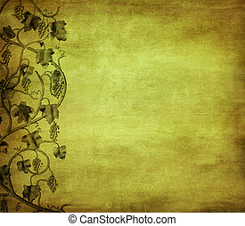 grunge background with grape, ideal pattern for wine list