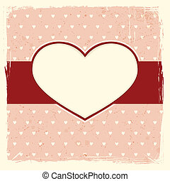 Grunge background with heart frame