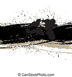 Grunge background with ink - Vector - Illustration of a...