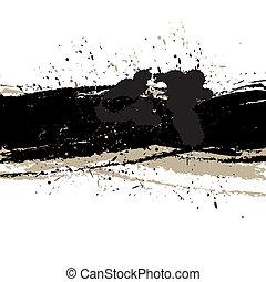 Grunge background with ink