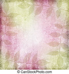 grunge background with leaf and  space for text or image