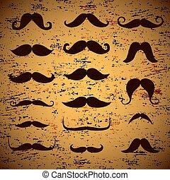 grunge background with mustache