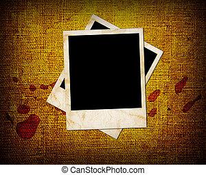 Grunge background with photo