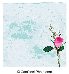 Grunge background with rose