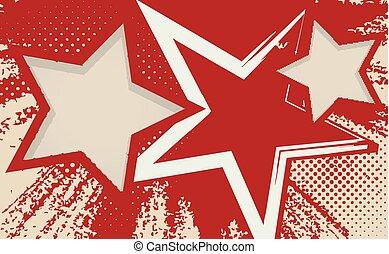 Grunge background with stars.