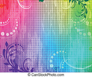 Grunge background with swirls