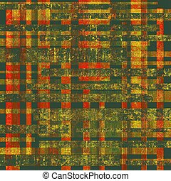 Grunge background with vintage and retro design elements. With different color patterns: yellow (beige); brown; red (orange); green