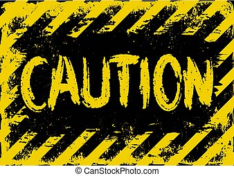 caution - grunge background with yellow and black stripes...