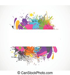 grunge, baggrund, copyspace