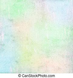 grunge, baggrund, farverig, pastel, tekstur