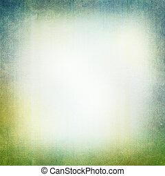 grunge, baggrund, ind, grønne blå