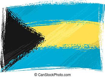Grunge Bahamas flag - Bahamas national flag created in...