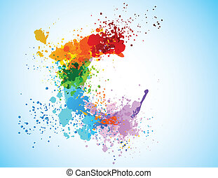 Bright colorful grunge background. Abstract shiny illustration