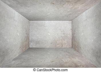 grunge, bakgrund, perspektiv, rum, cement