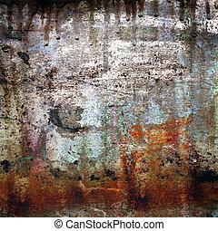grunge, bakgrund, rusty-colored