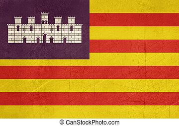 Grunge Balearic Islands flag