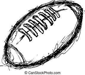 grunge, balle rugby