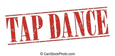 grunge, ballo, vendemmia, isolato, francobollo, fondo, rubinetto, bianco rosso