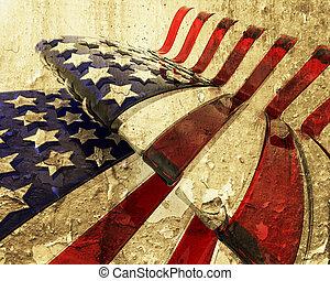 grunge, bandeira americana