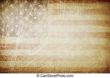 grunge, bandeira americana, experiência., perfeitos, para, texto, placing.