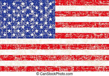 grunge, bandeira americana, fundo