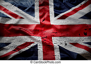 grunge, bandera, británico