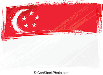 grunge, bandera de singapur